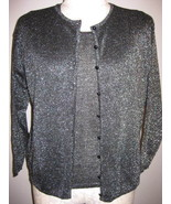 Colleens Collectables Black Sparkle Twinset Size S - $27.00