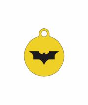 Batman-cir/Quiet Noiseless Silent cat dog tag Plastic pet tags Custom ID... - $11.99+