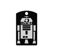 R2-D2/Quiet Noiseless Silent cat dog tag Plastic pet tags  - $11.99+