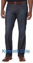 Kenneth Cole New York Men's Straight-Fit Stretch Jeans ,Indigo - $24.99