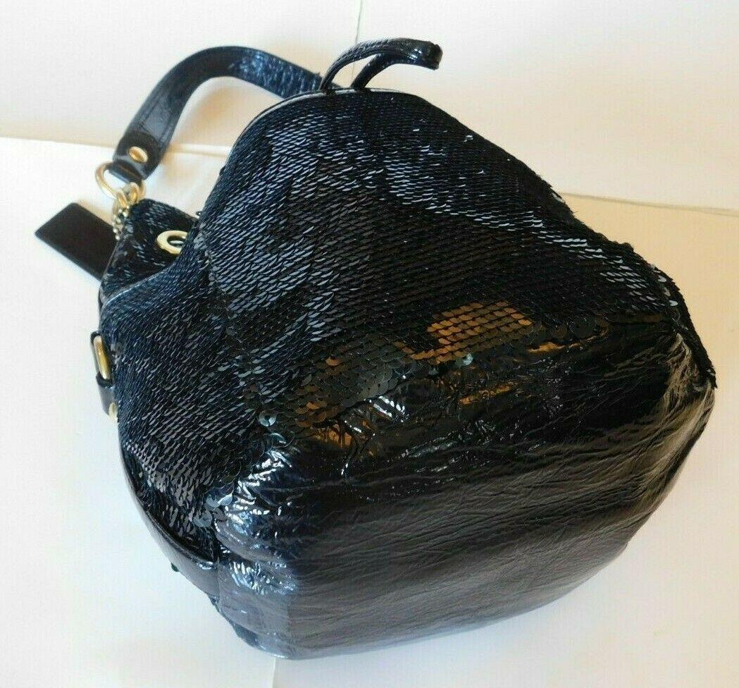 Coach Poppy Black Sequins Drawstring  Bag 17906 image 2