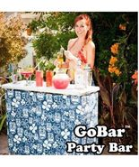 Portable Bar Demonstration Table High Top Folding Serving Counter Demo D... - $88.49