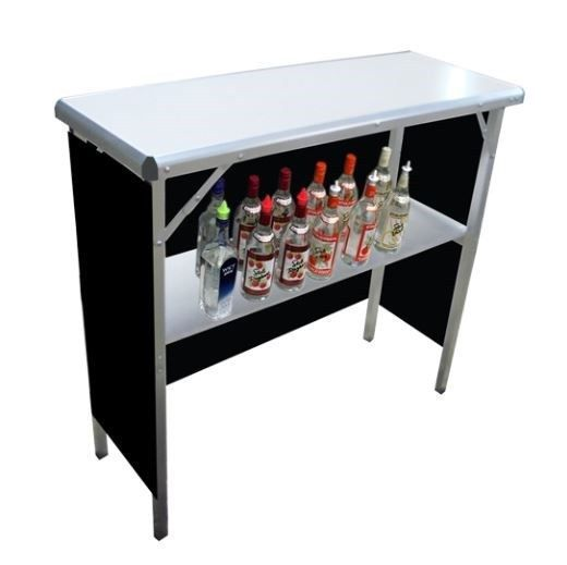 Portable Bar Folding Party Counter Mobile High Top Camping Tailgate Demo Table