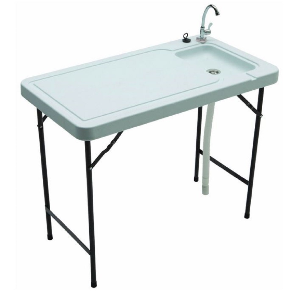 Outdoor Sink Prep Table Portable Game Fish Clean Hunt Camp Garden Potting Bench