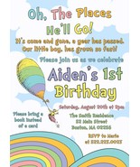 Oh the places you'll go, dr. seuss boy or girl Birthday Invitation, Pers... - $0.99