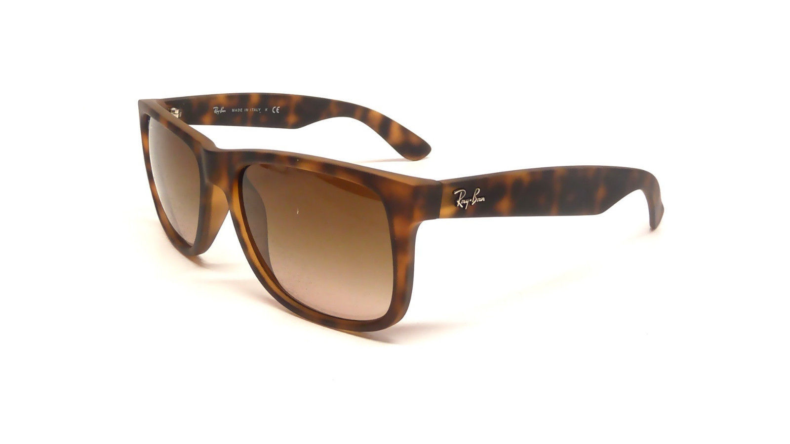 Primary image for New RAY-BAN Justin Rare Sunglass RB4165 710/13 Havana w/Brown Gradient 51