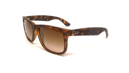 New RAY-BAN Justin Rare Sunglass RB4165 710/13 Havana w/Brown Gradient 51 - $97.95