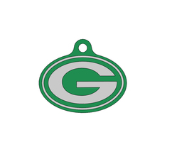 Wisconsin Green Bay Packers/Quiet Noiseless Silent cat dog tag Plastic p... - $11.99+