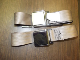 FORD MUSTANG SEAT BELTS  TAN Lift Latch Gt Shelby Pair - $49.49