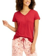Charter Club V-neck Pajama Top Red Size Medium - $16.65