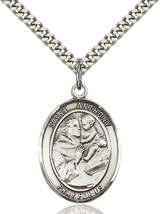 Saint Anthony of Padua 1 3/4 Inch Pewter Medal - $39.99