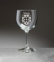 Wade Irish Coat of Arms Red Wine Glasses - Set of 4 (Sand Etched) - $56.79