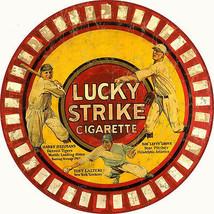 Round Lucky Strikes Cigarette Advertisement Garage Art - $25.74