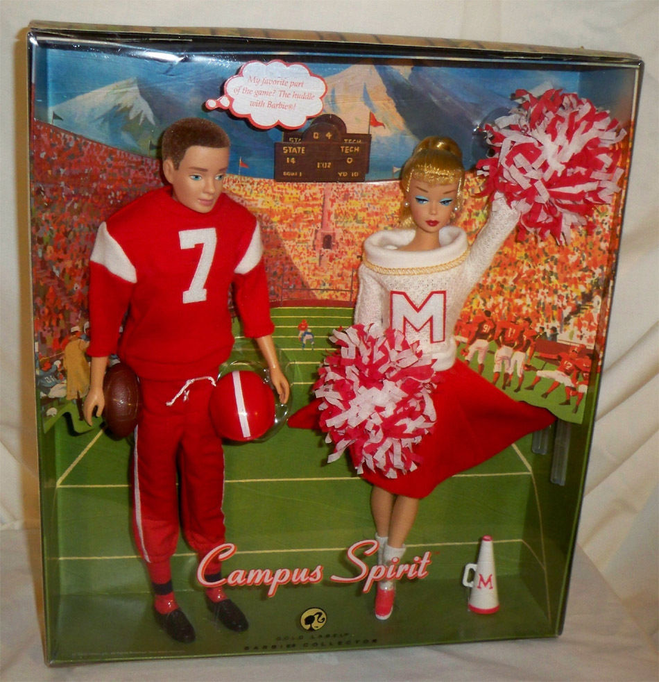 Primary image for Campus Spirit Barbie Doll and Ken Doll Giftset NRFB Mattel dolls L9649