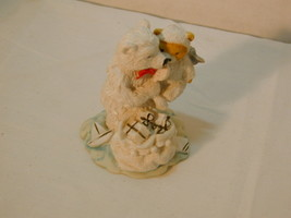 Enesco Polar Bear Angel Figures with gift sack - $8.06