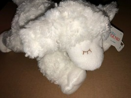 "Baby GUND Winky Lamb Stuffed Animal Plush Rattle, White, 7"" NWT - $8.59"