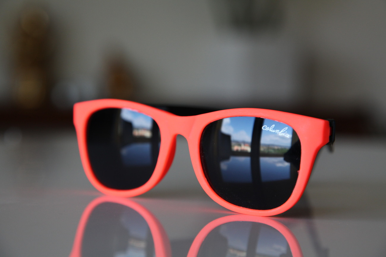 Classic Tortoise Sunglasses Neon Orange/ Rubber/ Black/ Black Lenses