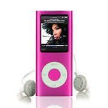 New Slim 16GB 1.8 LCD 4th Gen Mp4 FM Radio Video Player (Pink) - $28.88