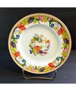 AYNSLEY Scrolls Peacock Flowers Floral 10'' Dinner Plate 5 available - $49.50