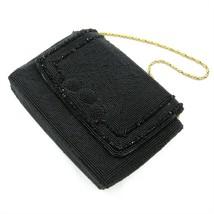 Walborg Black Beaded Vintage 1950s Handbag Bag Purse Made in Japan - $29.69