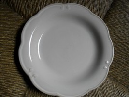 Vintage BOMBAY COMPANY White Salad Plate Scalloped Edge - $19.80