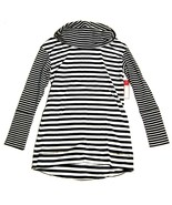 NWT MERONA Stretch Cotton Knit Turtleneck Shirt Parallel Stripe Black Wh... - $30.67