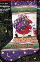 Dimensions Believe Santa Rooftop Pipe Christmas Cross Stitch Stocking Ki... - $78.95