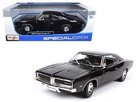 Maisto 1969 Dodge Charger R/T Black 1:18 Diecast Model Car - $48.86