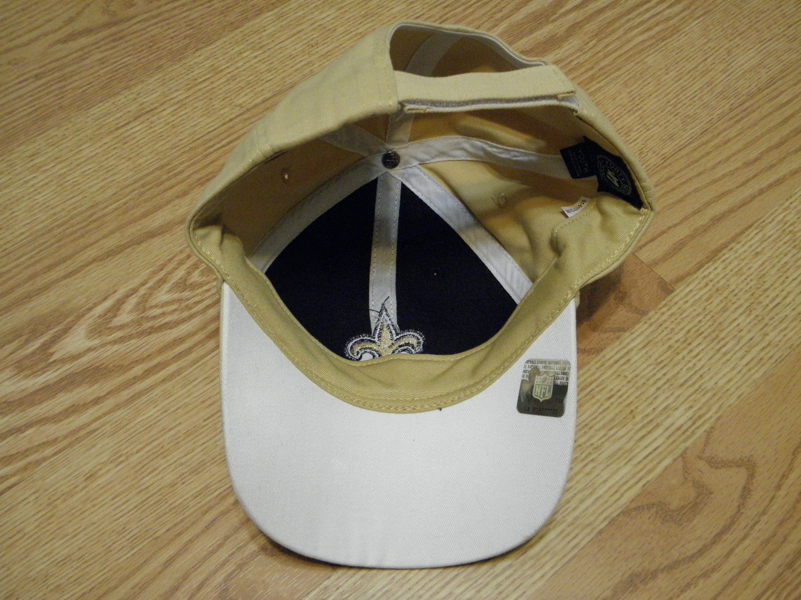 NEW ORLEANS SAINTS NFL APPAREL YOUTH BLACK & GOLD CAP W/ADJUSTABLE STRAP, NWT image 4