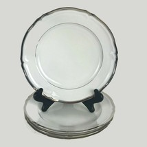 Four Mikasa Hyde Park Platinum Salad Plates Fine China Dinnerware White ... - $65.06