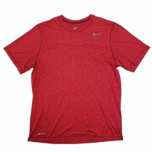 Nike Men's Dri-Fit Performance Athletic T-Shirt Large Top Short Sleeve Red - £13.08 GBP