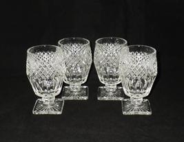 Westmoreland Waterford Elegant Glass Footed Tumblers ~ Set of 4 - $40.00