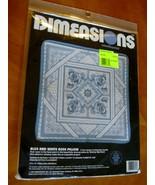 Vintage Dimensions Needlepoint Kit 2398 Blue & White Rose Pillow sealed ... - $24.75