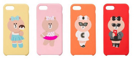 LINE Friends CHOCO Silicone Case iPhone 7/7Plus Mobile Skin Phone Cover ... - $37.98