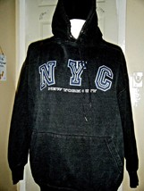 LIFE NEW YORK CITY DK BLUE PULLOVER HOODIE SIZE L - $16.39