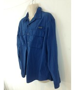 Timberland Mens XL Blue Turbo Dry Expedition Fishing Vented Button Front... - $14.85