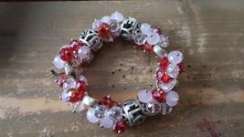 Pink Red LOVE YOU Valentines Day Stretch Bracelet - $10.30