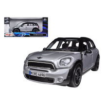Mini Cooper Countryman Silver with Black Top 1/24 Diecast Model Car by Maisto 31 - $24.49