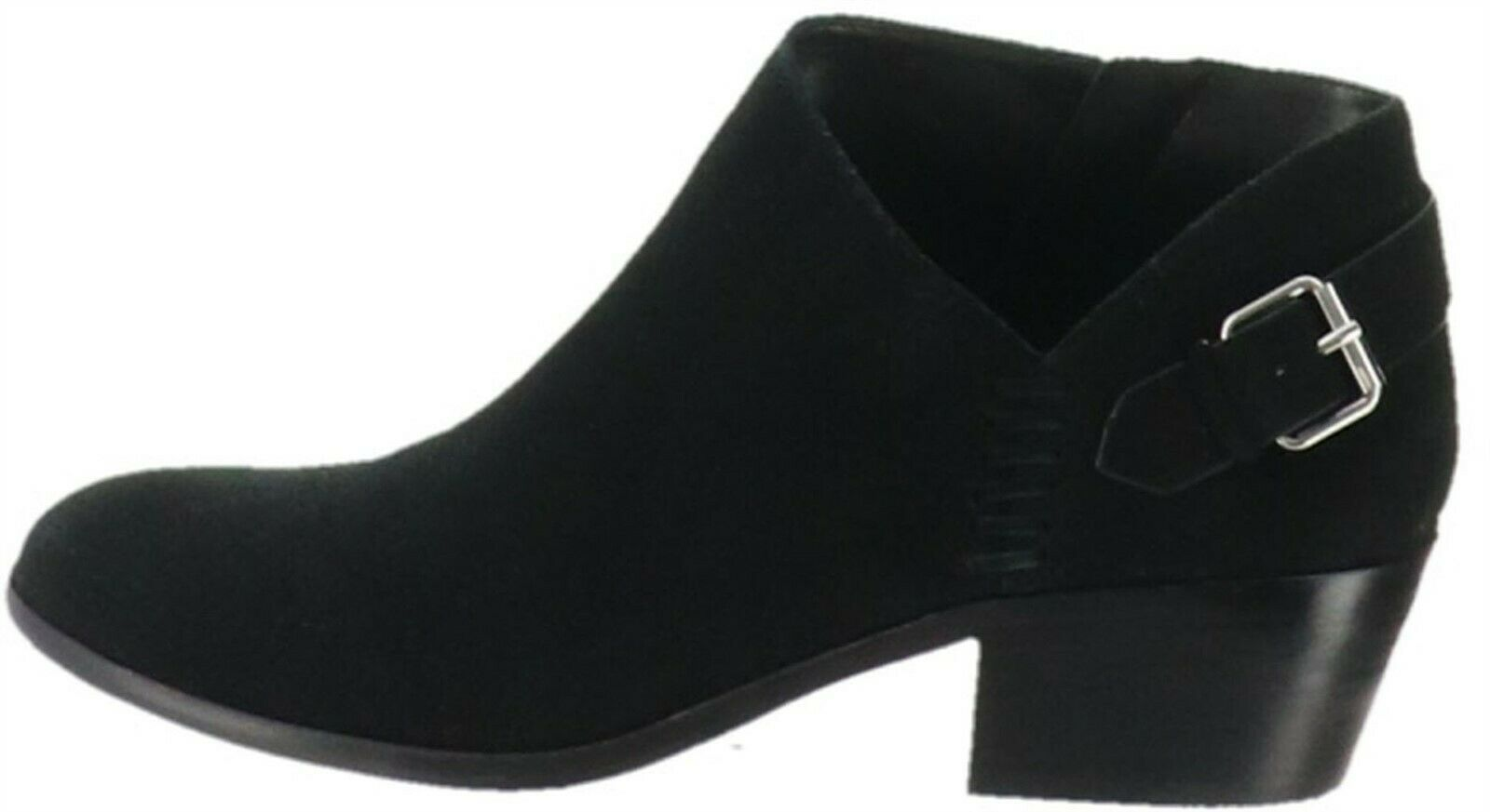 Primary image for Vince Camuto Suede Booties Buckle Parveen Black 6M NEW A311049
