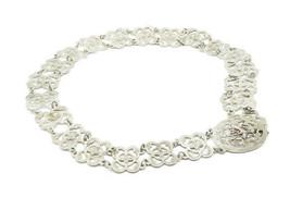 SIAM 925 Sterling Silver - Vintage Etched Detail Floral Designed Belt - ... - $249.32