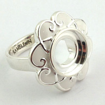 Authentic Kameleon Silver White Mother of Pearl Ring Kr-25 Kr025  Size 7