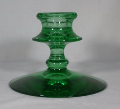 "Cambridge Candle Holder Single Light Green 3"" Tall Pretty Holiday Use Vi... - $4.46"