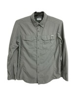 Columbia men's omni shade sun protection shirt gray button front size M/M - $19.69