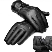 Man Drive Touch Screen With Velvet Warm Lmitation Leather Gloves - $17.74 CAD