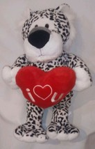 "Animal Adventure 2019 Plush White Black Lion Valentines Heart 19"" Stuffe... - $23.66"