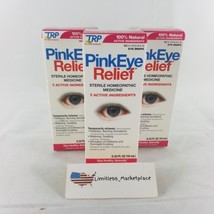 (3) TRP Pink Eye Relief Sterile Homeopathic Eye Drops - EXP: 09/18 - $12.99