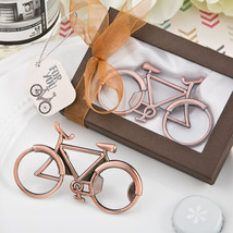 1 Vintage Bicycle Bottle Opener Wedding Favor Antique Design Copper Booz... - $6.88