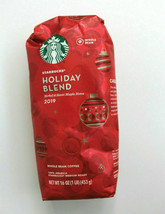 Starbucks Holiday Blend Medium Roast Whole Bean Coffee 2019 16 oz - $32.68