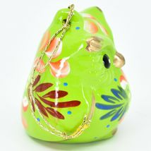 Handcrafted Painted Ceramic Green Owl Confetti Ornament Made in Peru image 4