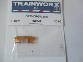 Trainworx Stock #182-3 Snowplow GP30 DRGW Gold N-Scale image 1
